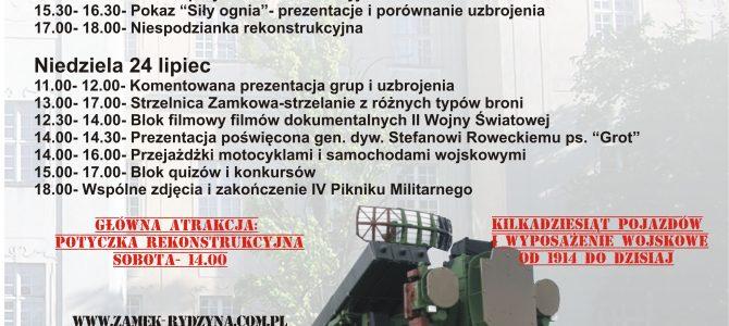 IV Piknik i Wystawa Militarna 23-24 lipca 2016